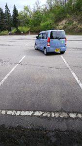 駐車場での練習
